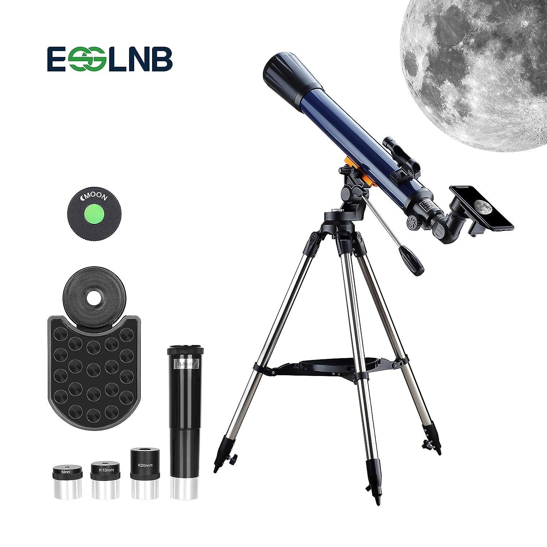 ESSLNB 70070 Telescopi Per Astronomia Bambini Principianti Adulti Con Adattatore Per Treppiede E Telefono Red Dot Finder Scope Lente Barlow 3 Oculari