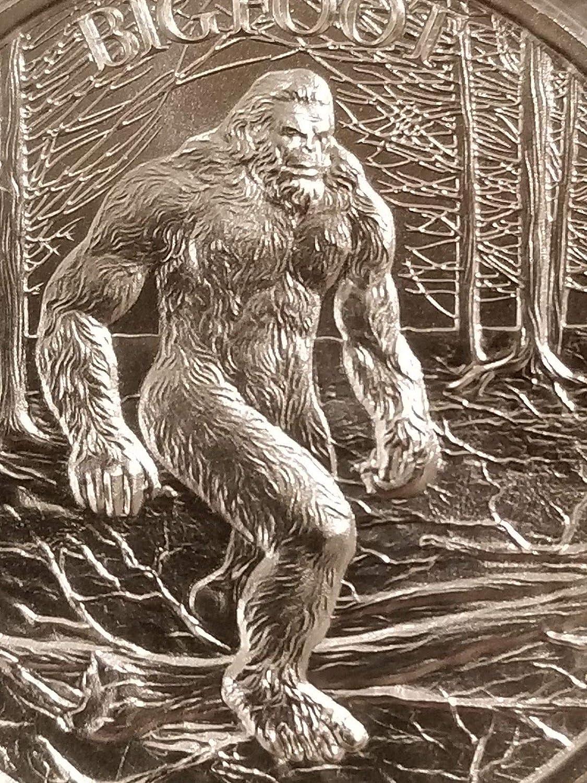 Bigfoot 1 oz .999 Silver round Sasquatch American Folklore new high relief