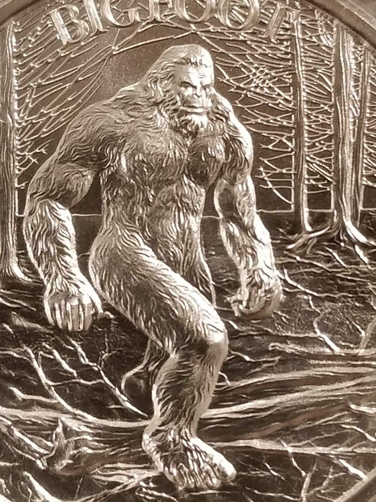 Bigfoot 2 oz .999 Silver Round Sasquatch American Folklore New high Relief Chunk