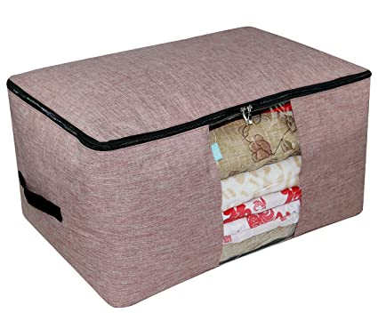 iwill CREATE PRO Clothes Storage Organizer Bag for Closet, Sweaters, Down Jackets, Coats etc. Bulky Garment Storage Bag, Red