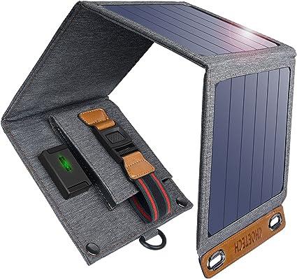 Amazon.com: Cargador solar, CHOETECH 14 W USB plegable ...