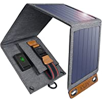 Solar Charger,CHOETECH 14W Foldable Solar Charger,USB Powerport Solar Compatible with iPhone, Android Smartphones, Tablets, Power Banks and Other USB-Charged Devices
