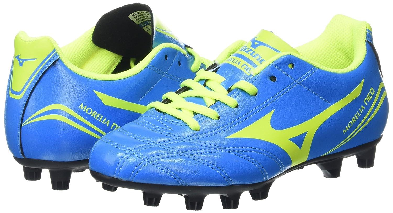 timeless design e5230 a435f Mizuno Unisex Kids  Morelia Neo Cl Jr. Md , Botas de Fútbol Unisex Niños,  Azul (Diva Blue Safety Yellow), 35 EU  Amazon.es  Zapatos y complementos