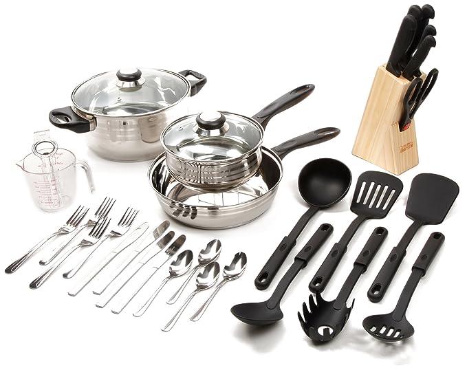 Amazon.com: Gibson LYBRA Set de utensilios de cocina, 32 ...
