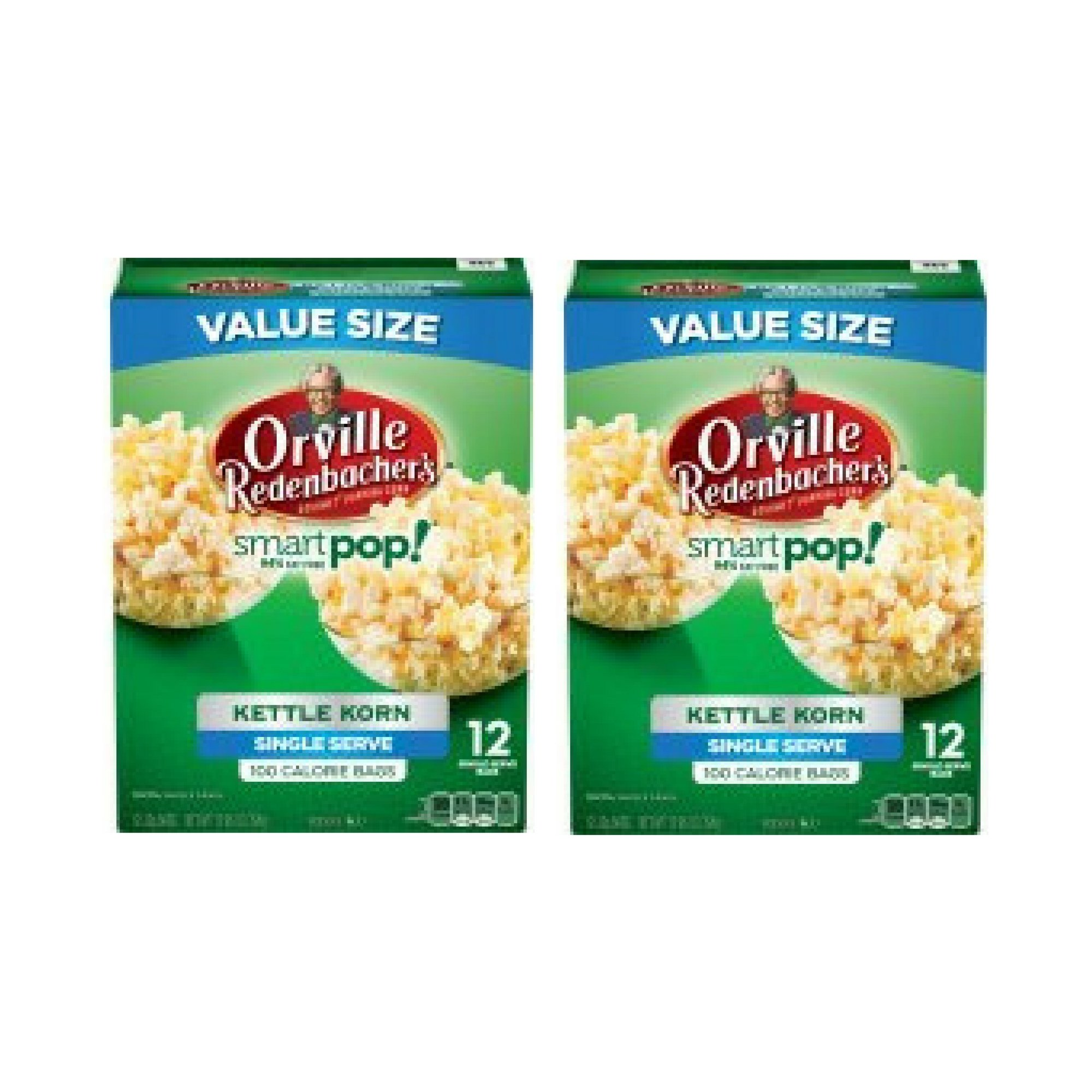 Orville Redenbacher's SmartPop! Kettle Korn Popcorn, Single Serve Bag, 12 Ct - 2 Packs
