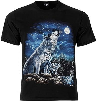 dae10e55f1f Howling Wolf Wild T-Shirt (Large)  Amazon.co.uk  Clothing