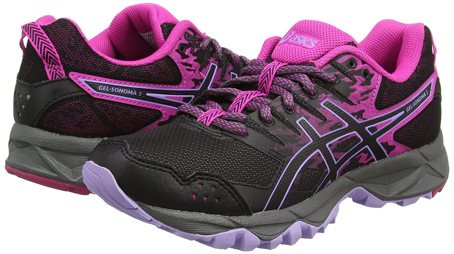 uk availability a295b 33209 Asics Sonoma 3, Chaussures de Running Femme, Rose (Pink Glow Black