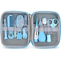 Baby Grooming Kit, 11 in 1 Baby Healthcare Kit Safety Health Care Set with Hair Brush Comb Nail Clipper Nasal Aspirator…