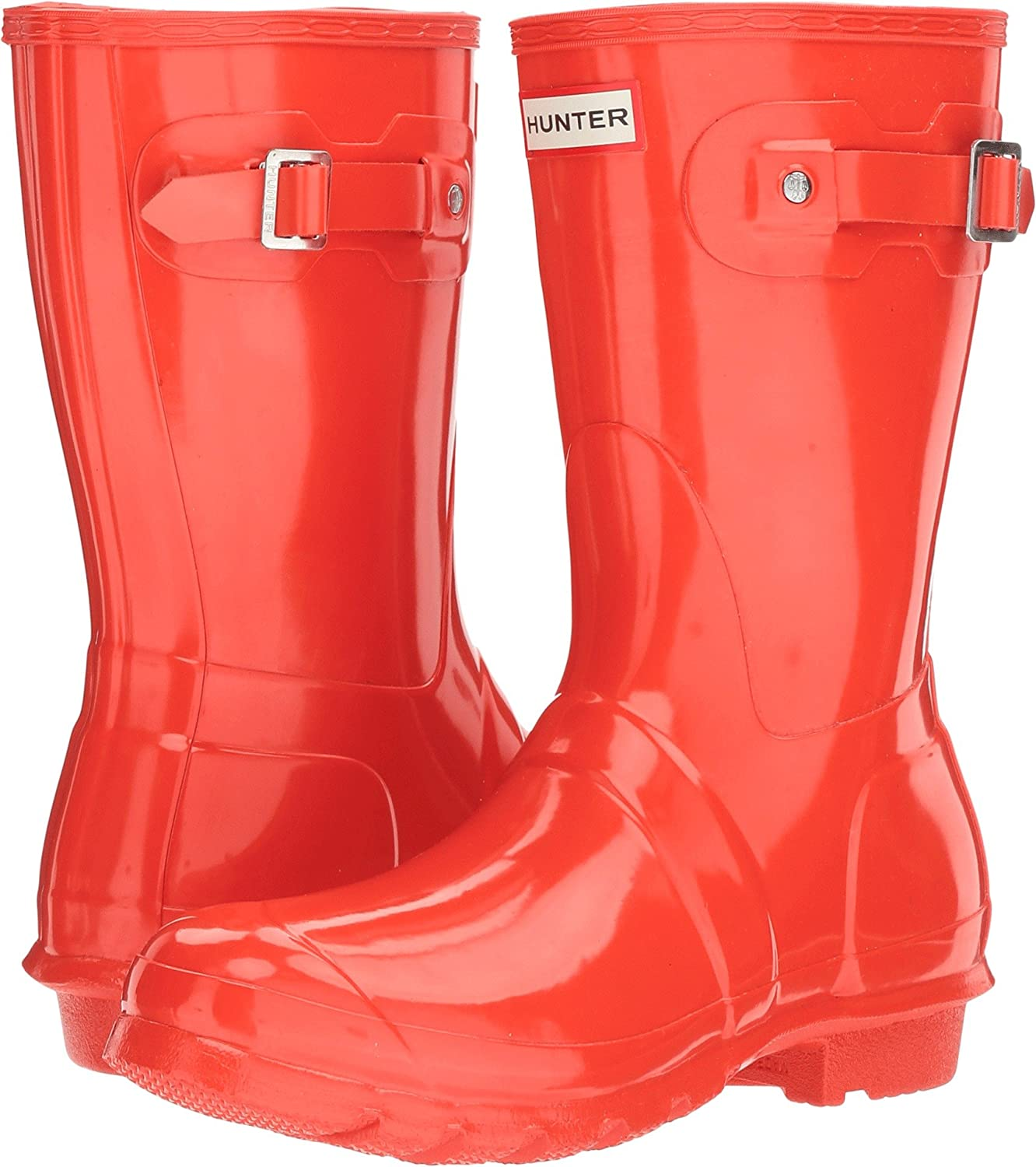 Hunter Women's Original Short Gloss Rain Boots B01MT5JP14 7 B(M) US|Orange