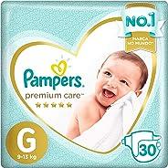 Fralda Pampers Premium Care Mega, G, 30 Unidades