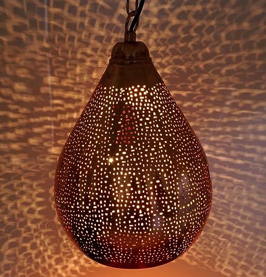 Guru-Shop Lámpara de Techo de Cobre en Diseño Marroquí ...