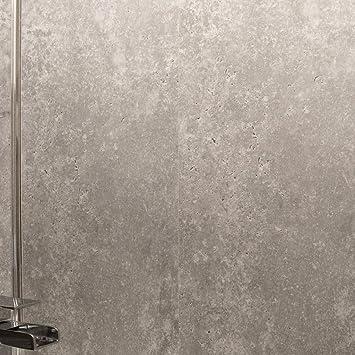 Grey Bathroom Wall Panels-Shower Cladding Panels-Ceiling