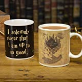 Marauders Map Harry Potter Heat Change Mug   Sensitive to Hot Drinks   Colour & Design Changes When Hot   Magic Colour Changing Coffee Tea Cup