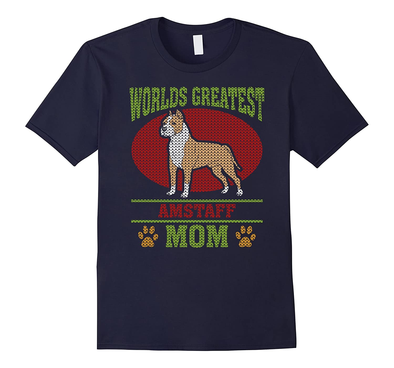 American Staffordshire Terrier Mom T-shirt-Art