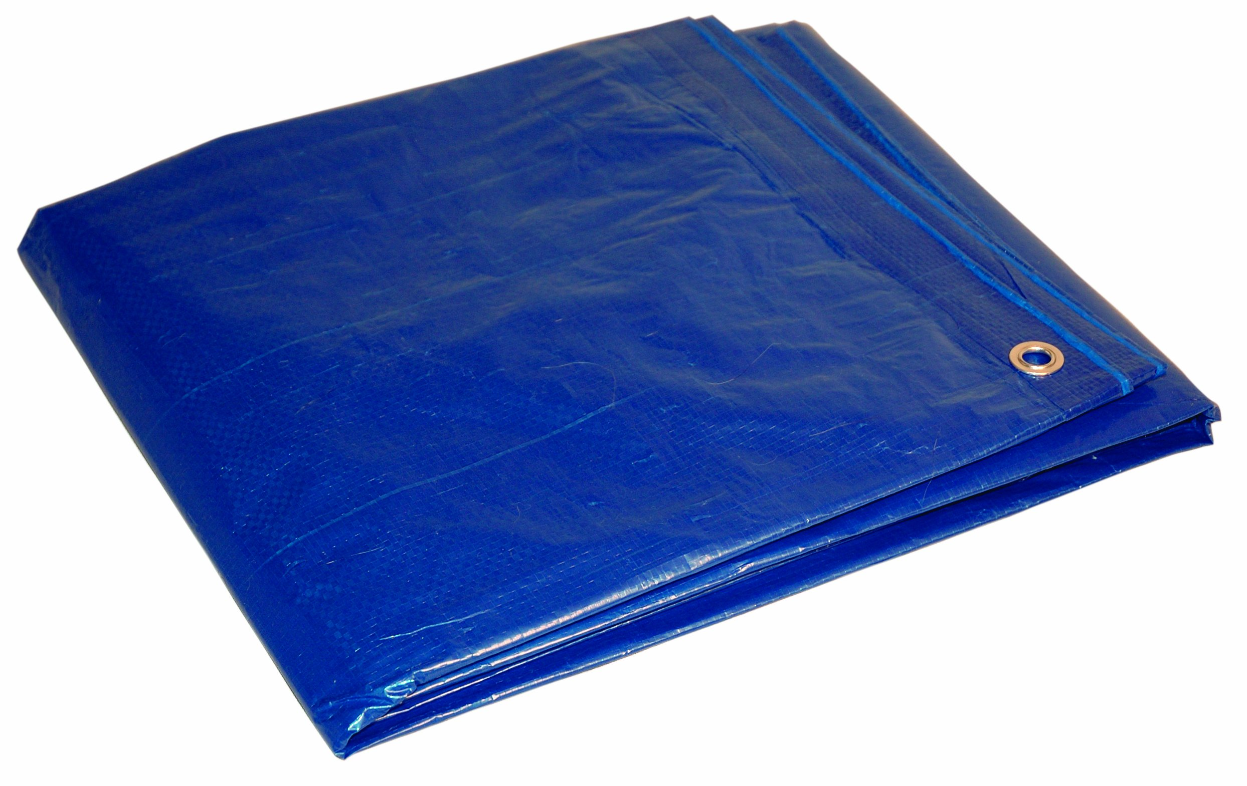 16' x 20' Blue Cut Size 5-mil Poly Tarp item #816204