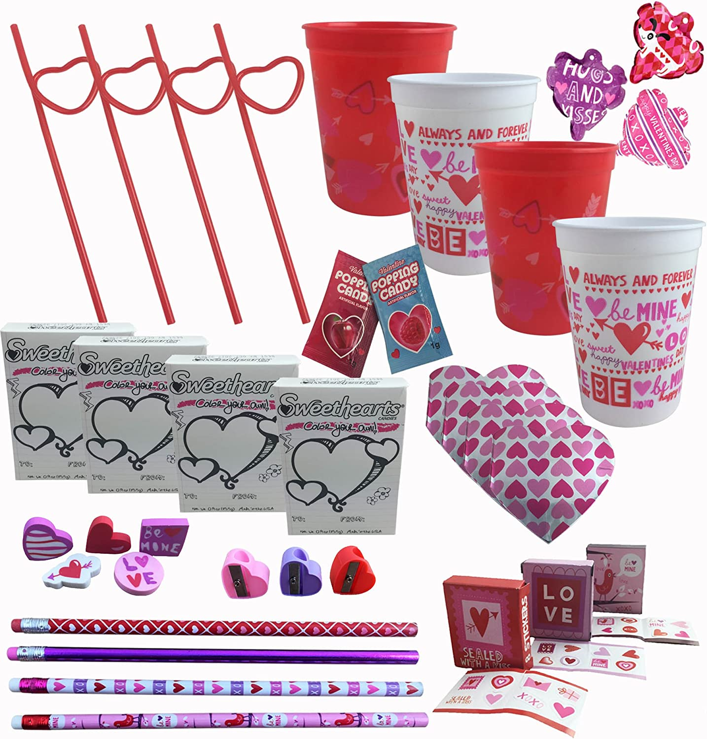 Valentines Day Mini Foam Fingers 6 Piece Set Team Party Favor or Classroom Valentine Gift