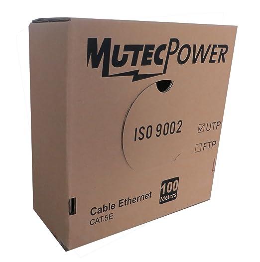 2 opinioni per MutecPower- 100m CAT5E solido UTP Cavo di rete Ethernet CCA- 24 AWG 350 Mhz