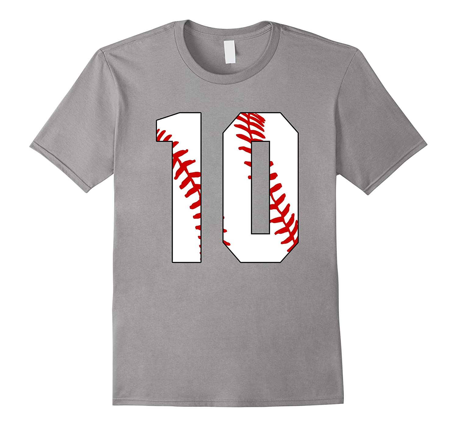 10 Baseball Ten10th Birthday  Baseball Mom Number 10-TH