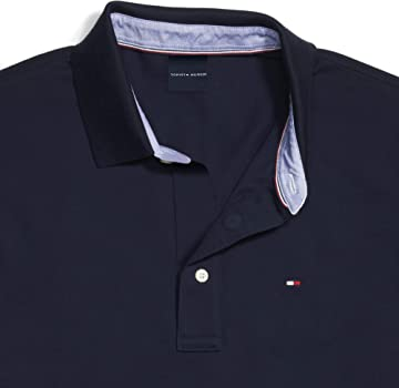 Tommy Hilfiger - Polo para Hombre con Botones magnéticos - Azul ...