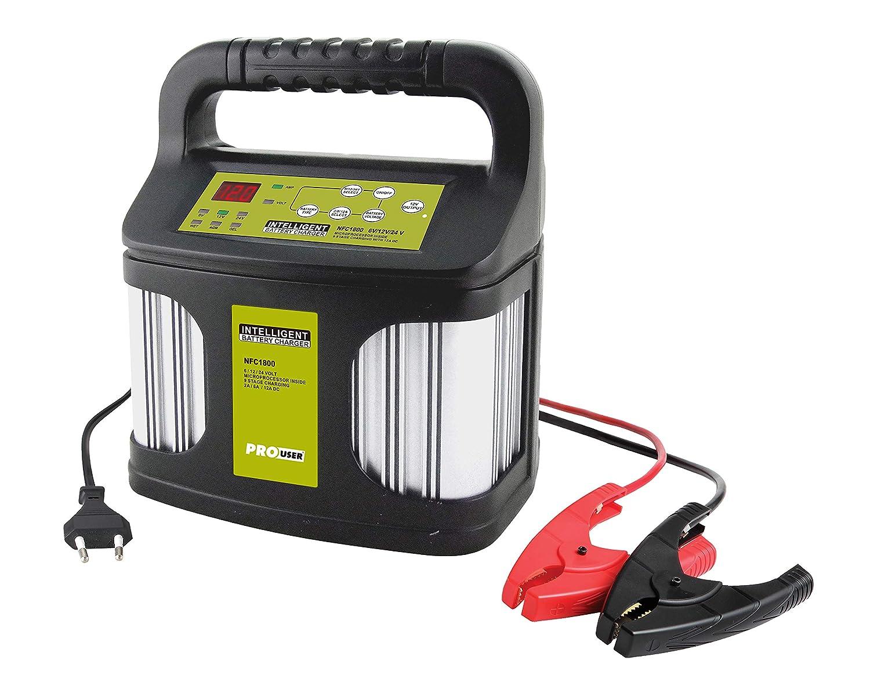 12V und 24V ProUser 16611 NFC1800 12 Amp Intelligentes Batterieladeger/ät f/ür 6V