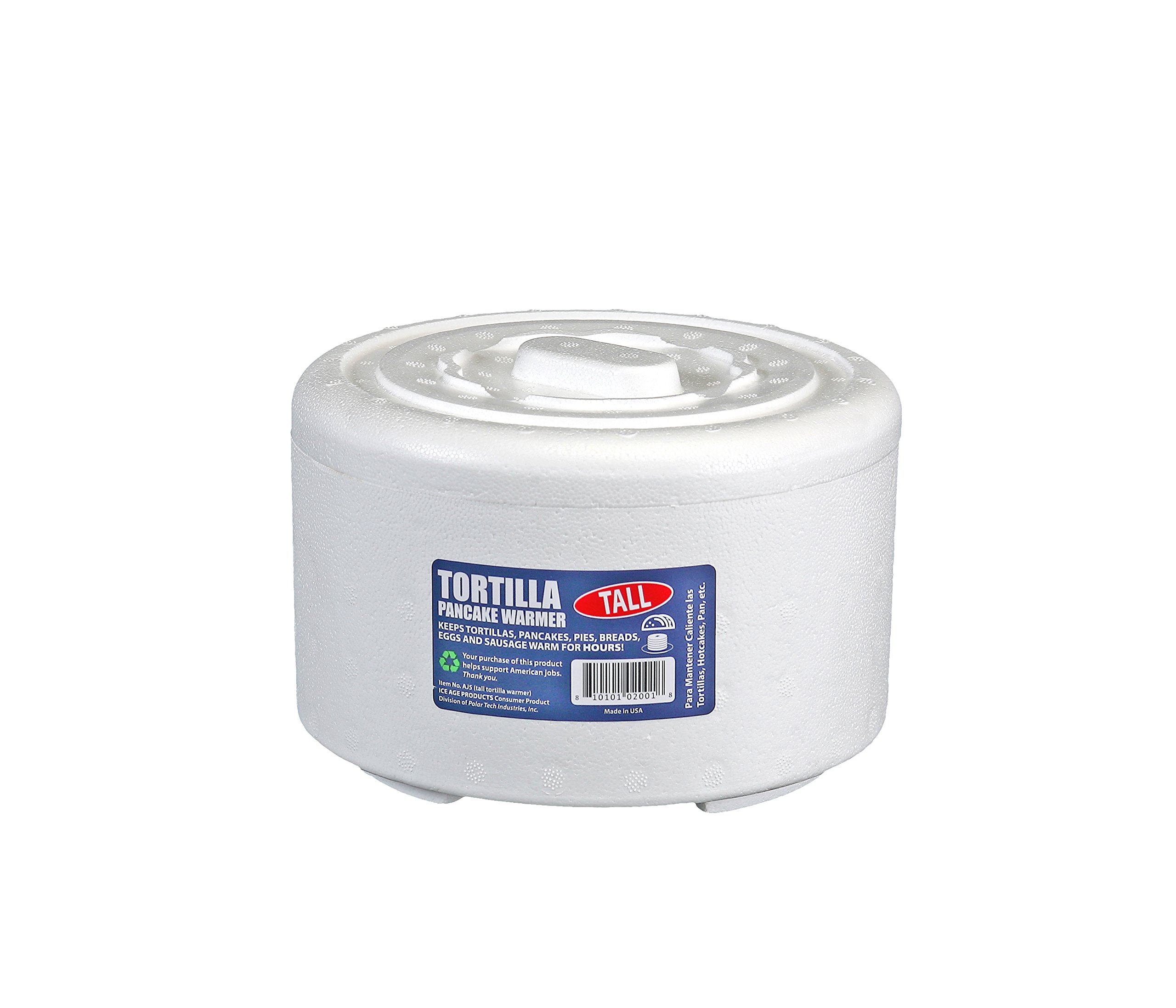 ICE AGE AJ5/2 Tortilla/Pancake Bread Warmer, 6-7/8'' Diameter x 3.5'' (Pack of 2)