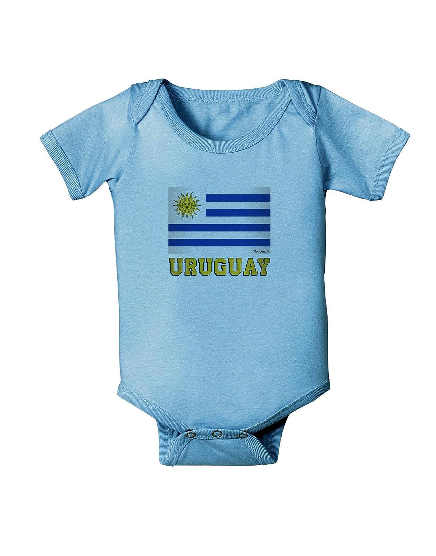 TooLoud Uruguay Flag Baby Romper Bodysuit