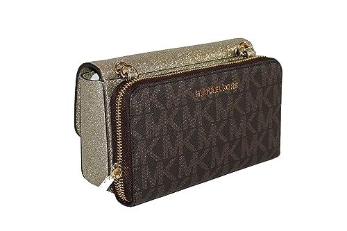 00e76d8331ff MICHAEL Michael Kors Tina Women's Wallet Clutch Xbody Shoulder Leather  Double Bag: Amazon.ca: Shoes & Handbags