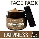 BeWhite - DeTan & Fairness Face Pack | 50 G | DeTan | Whitening | Glow | Bentonite Clay | Unisex | By Bella Vita Organic