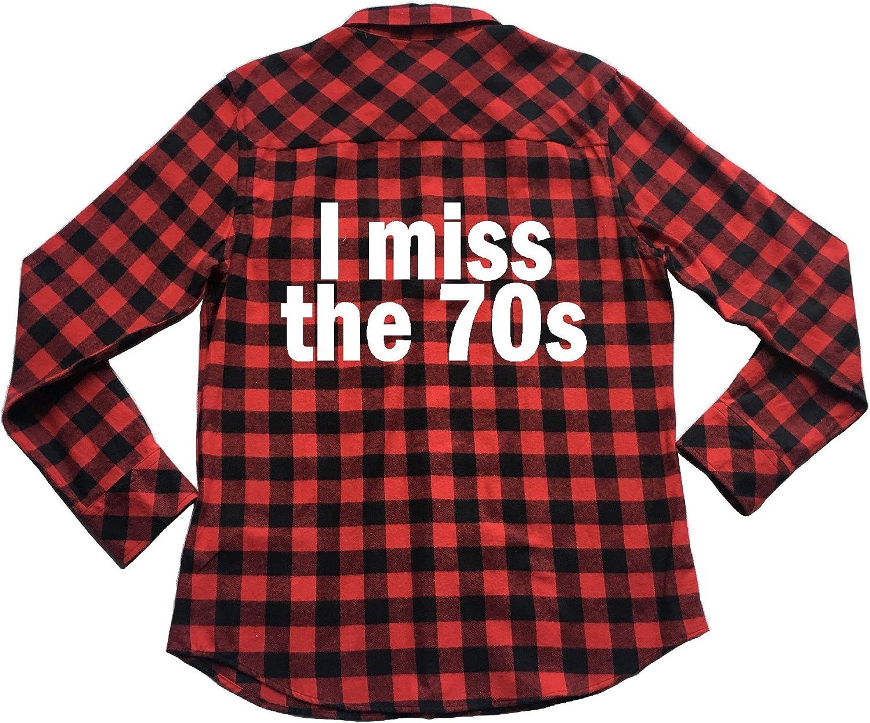 I Miss The 70s - Plaid Flannel Unisex Shirt Seventies 1970s Retro Decade