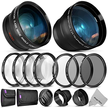 Review 52mm Starter Accessory Kit for Nikon DSLR Bundle with Vivitar Wide Angle and Telephoto Lenses