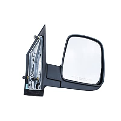 Right Passenger Side Door Mirror for Chevy Express GMC Savana Textured Non-Heated Manual Folding (2003 2004 2005 2006 2007 2008 2009 2010 2011 2012 2013 2014 2015 2016 2020) - GM1321284: Automotive
