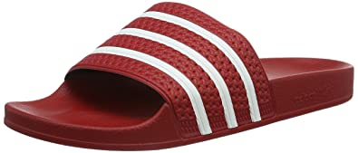 official photos e5cd0 7ee0f adidas Adilette, Herren Dusch-  Badeschuhe, Rot (Light ScarletWhite
