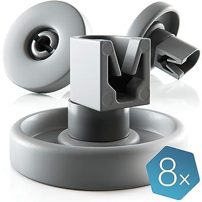 Ruedas lavavajillas de Plemont® [cesta inferior] ruedas de lavavajillas para muchos comunes lavavajillas de Bosch Zanussi Miele etcétera - ruedas bandeja lavavajillas