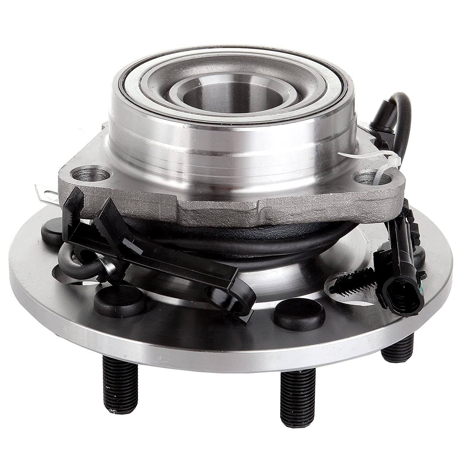 ECCPP Wheel Hub and Bearing Assembly Front 515024 fit 1995-2000 Chevy Cadillac GMC 4WD Replacement for 6 lugs wheel hub with ABS 3 Bolt Flange