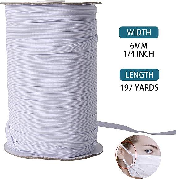 Gummilitze Gummiband Breite 3mm 5mm 6mm Wäschegummi Elastikband Gummi 10-180M