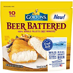 Gorton's, Classic Beer Batter Crispy Fillets, 18.2 oz (Frozen)