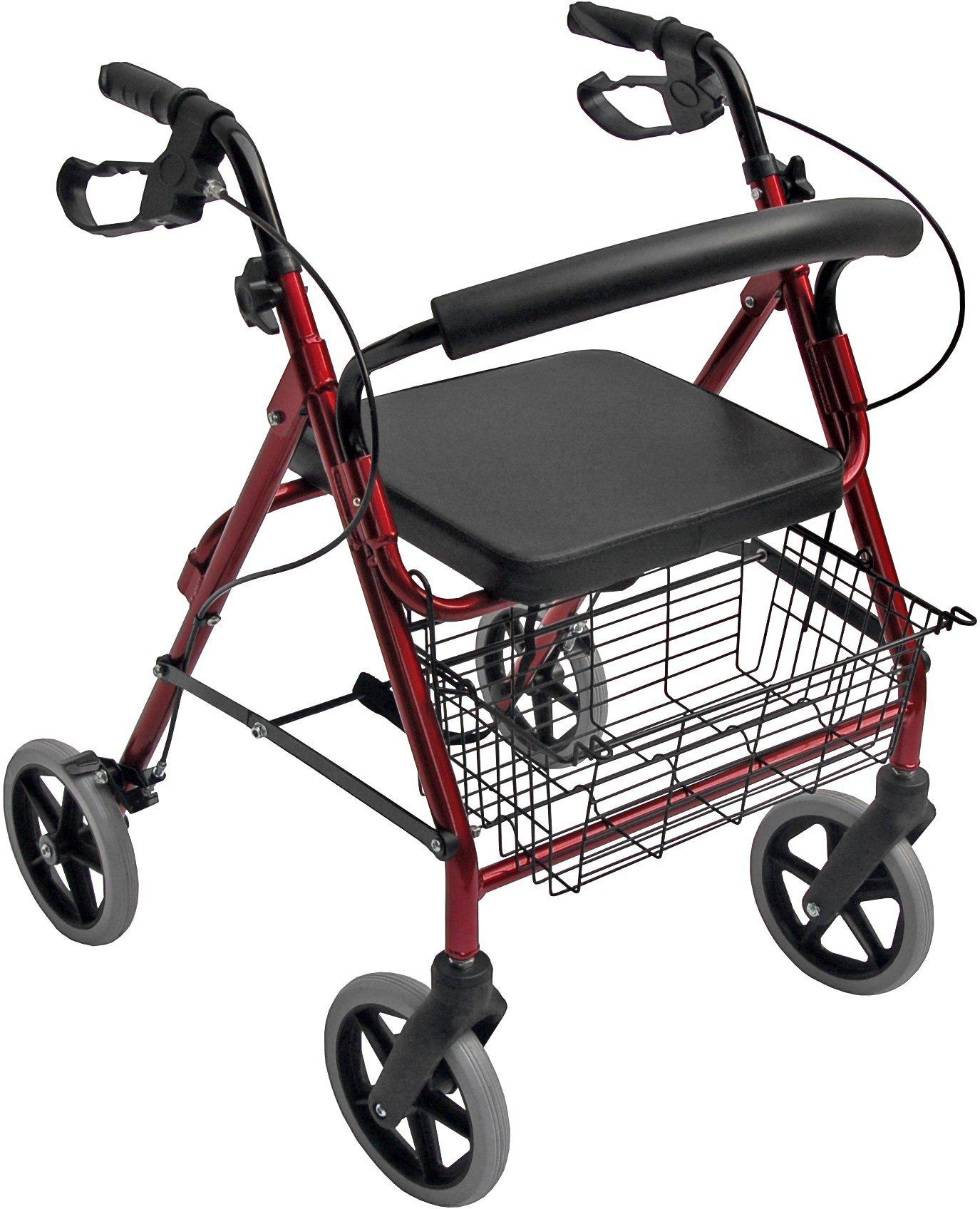 Accela 4 Wheeled EZ Turn Rollator