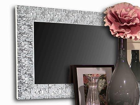 Specchio Moderno da Parete - Cornice Specchio per Ingresso, Camera,  Soggiorno - Specchiera Argento Design Moderna - Specchiera Rettangolare ...
