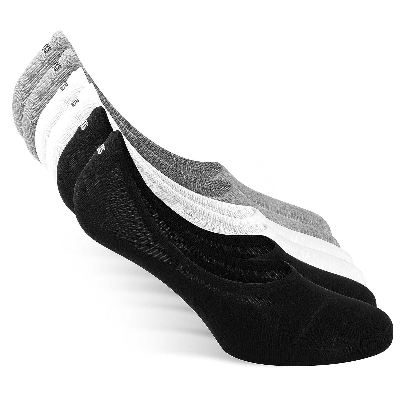 Snocks No Show Socks (6 Pairs) German Brand (Size 3-15) - Men & Women