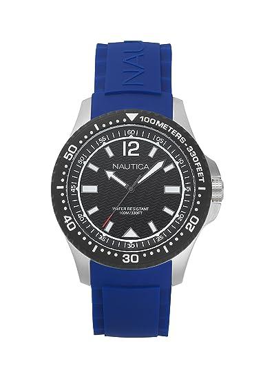 Nautica Reloj Analógico para Hombre de Cuarzo con Correa en Silicona NAPMAU002