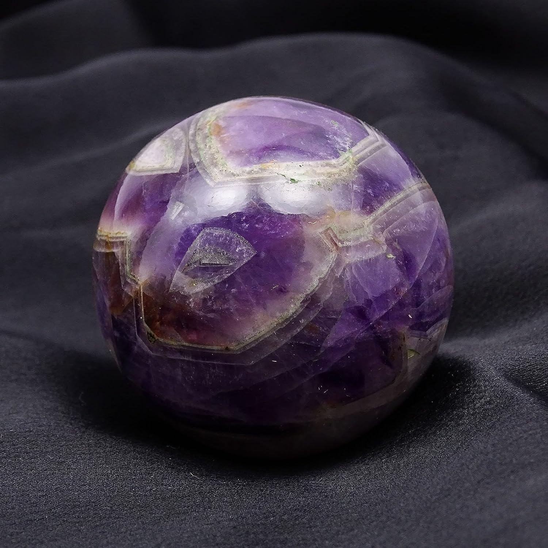 HARMONIZE Amethyst Stone Sphere Ball Balancing Reiki Healing Stone Purple Table Decor Gift