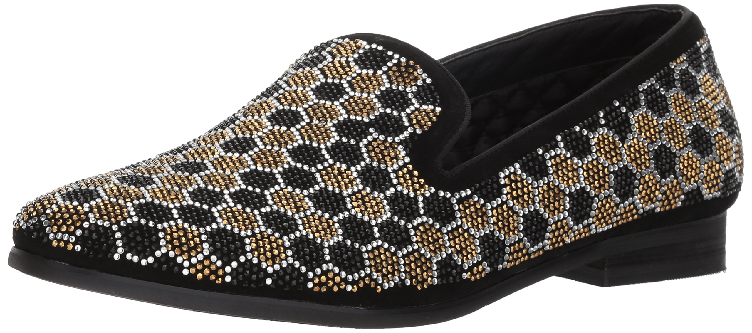 Steve Madden Men's Caspian Loafer, Black/Gold, 12 M US