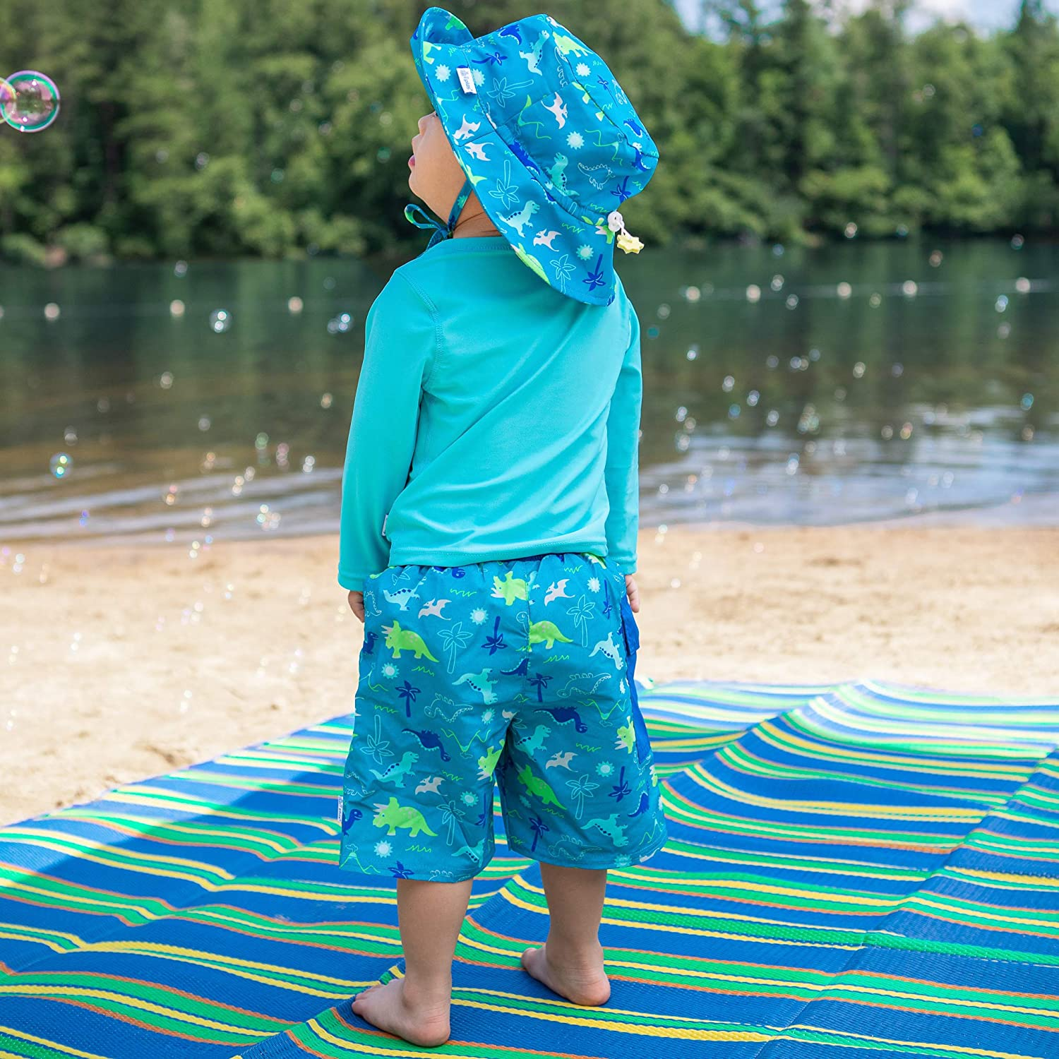 i play Boys Pocket Trunks with Reusable Absorbent Swim Diaper