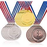 Hilitchi Gold Silver Bronze Award Medals - Olympic Style Winner Medals Gold Silver Bronze with Ribbon