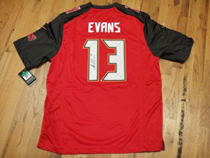 MIKE EVANS #13 JSA SIGNED NIKE TAMPA BAY BUCCANEERS FOOTBALL JERSEY AUTOGRAPHED
