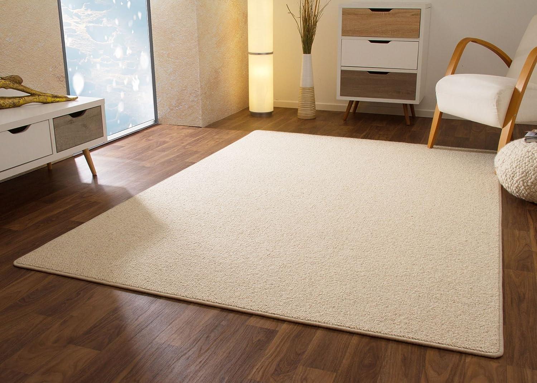 Designer Teppich Modern Berber Sydney in Creme, Wollsiegel Qualität, Größe  160x230 cm