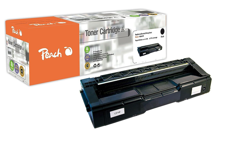 Peach Negro cartucho Módulo Negro Peach Compatible con RICOH C310b, 406479 8beb3e