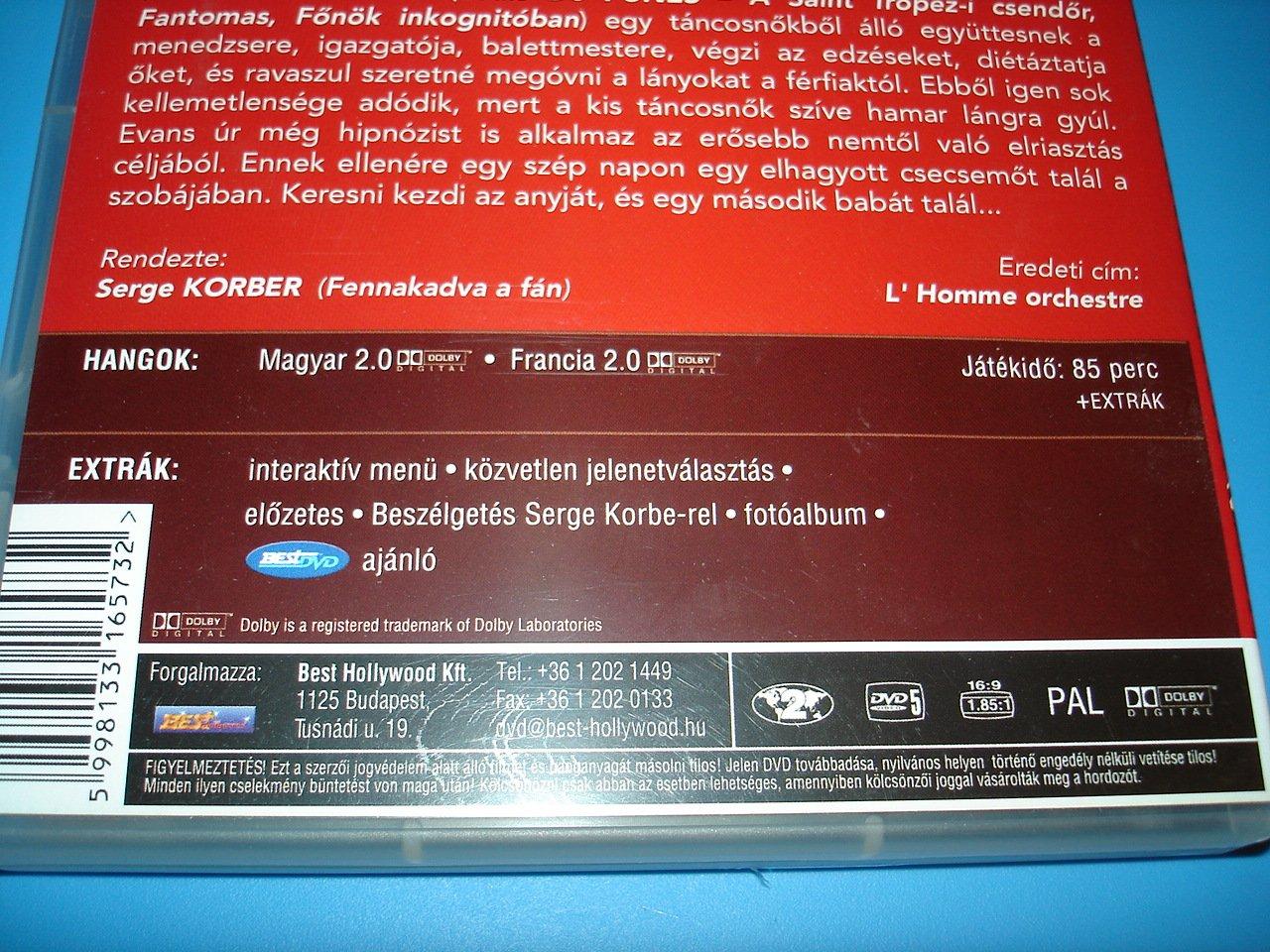 Amazon.com: Homme orchestre, L' (1970) / L'Homme Orchestre / Region 2 DVD  PAL European Edition / French and Hungarian sound options / Louis De Funes  ...