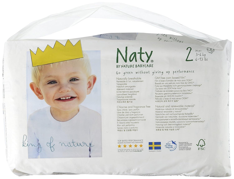 3-6 kg Naty Pa/ñales nature talla 2 mini