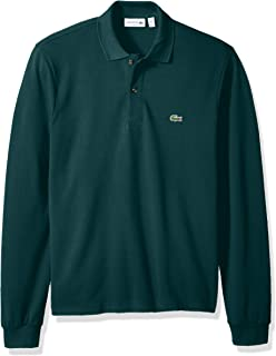 2c9a30929568d Lacoste Men s Long Sleeve Semi Fancy Slim Fit Pique Caviar Polo at ...